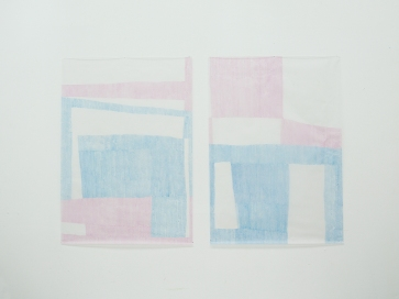 14 - Marta Sampaio Soares 90,6 x 70,9 in (230 x 180 cm) Blue and rose