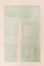 Light green U, 2012 pen on tracing paper, 180 x 220 cm
