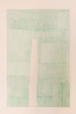 Light green U, 2012 pen on tracing paper, 180 x 220 cm
