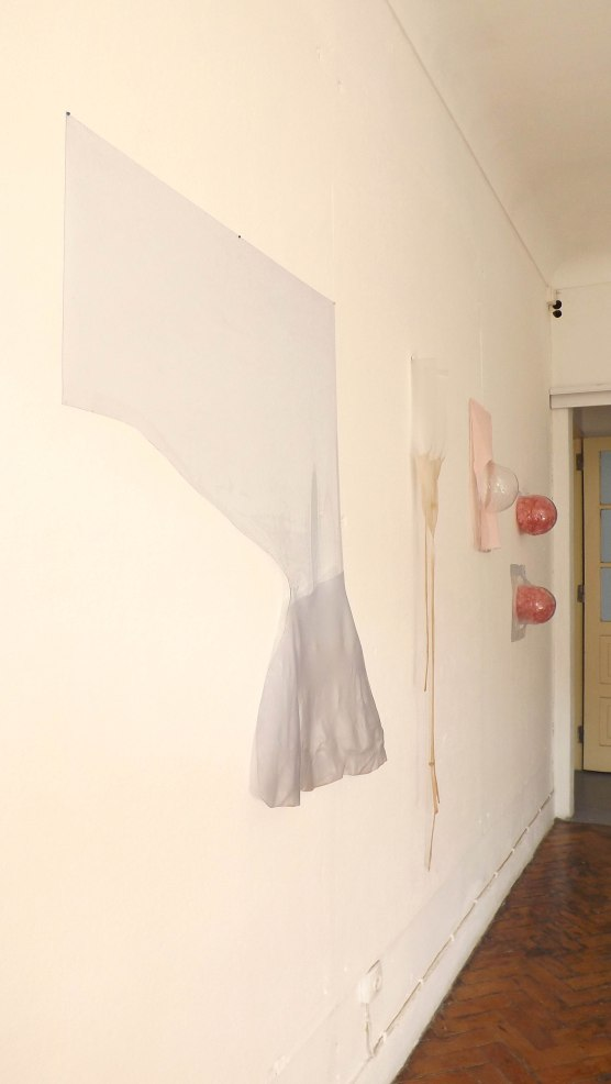 Installation view, bubble plastic and pvc plastic, 1,50 x 4m